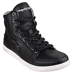 Kangaroos - Black 'K-Basket' womens trainers