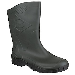 Dunlop - Dark green 'Dee Calf' wellington boot