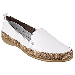 The Flexx - White 'Raphael' leather loafer