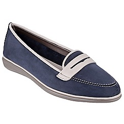 The Flexx - Navy 'Orise' nubuck leather loafers