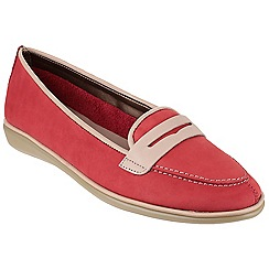 The Flexx - Red 'Orise' nubuck leather loafers
