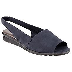 The Flexx - Navy 'fantazee' nubuck slip on shoe