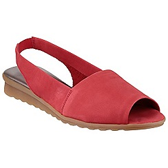 The Flexx - Red 'fantazee' nubuck slip on shoe
