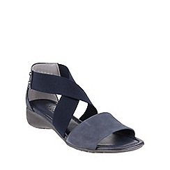 The Flexx - Navy 'Sunglass' nubuck wedge sandal