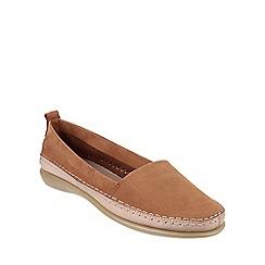The Flexx - Tobacco 'Mr softy' nubuck leather loafers