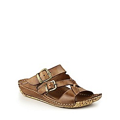 Cotswold - Brown Tetbury' buckle sandals