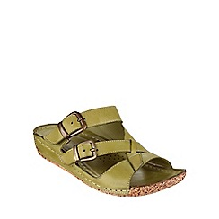 Cotswold - Green Tetbury' buckle sandals