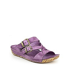 Cotswold - Purple Tetbury' buckle sandals