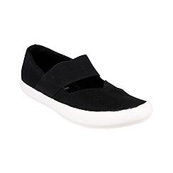 Cotswold - Black 'Chedworth' plain canvas shoes