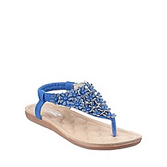 Divaz - Blue 'Britney' patterned sandals