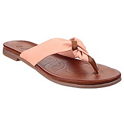 Divaz - Coral 'Brenta' toe post sandals