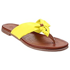 Divaz - Yellow 'Brenta' toe post sandals