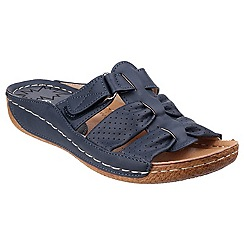 Divaz - Navy 'Amusa' slip on sandals