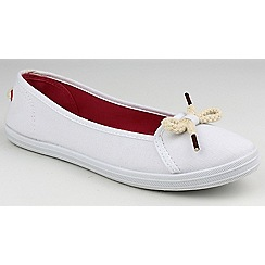 Divaz - White 'Lopez' slip on plimsolls