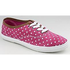 Divaz - Pink 'Winslet' lace up plimsolls