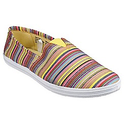 Divaz - Yellow 'Taylor' printed plimsolls