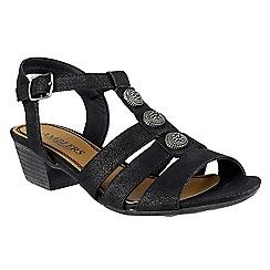 Amblers - Black Cavone' heeled sandals