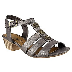 Amblers - Metallic Cavone' heeled sandals