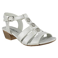 Amblers - Silver Cavone' heeled sandals