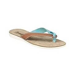 Fantasy - Tan/blue 'Kos' sandals