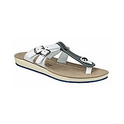 Fantasy - Blue/white 'Athens' sandals
