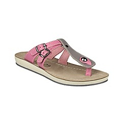 Fantasy - Grey/pink 'Athens' sandals