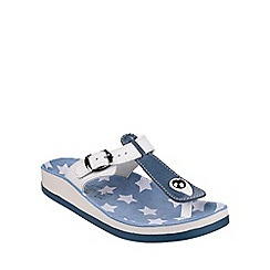 Fantasy - Blue/white 'Naxos' sandals
