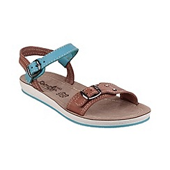Fantasy - Tan/blue 'Santaroni' sandals