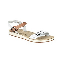 Fantasy - White/tan 'Santaroni' sandals