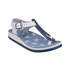 Fantasy - Blue/white 'Kefelonia' sandals