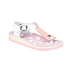 Fantasy - Pink/white 'Kefelonia' sandals