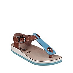 Fantasy - Blue/tan 'Zante' sandals
