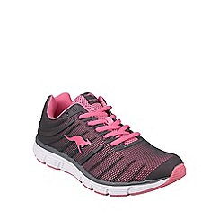 Kangaroos - Grey/pink 'K-Tech' womens trainers