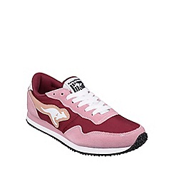 Kangaroos - Power/maroon 'Invader Basic' womens trainer