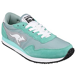 Kangaroos - Turquoise/blue 'Invader Basic' womens trainer