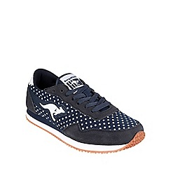 Kangaroos - Navy 'Invader Dots' womens trainer