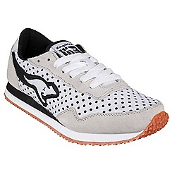Kangaroos - White 'Invader Dots' womens trainer