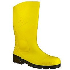 Dunlop - Ye/blk 'Devon' wellington boot