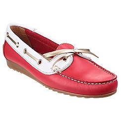 Riva - Red/wh 'Spoleto' boat shoes