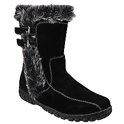 Cotswold - Black 'Aston' calf high boots