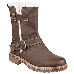 Divaz - Dark brown 'Nardo' buckle boots