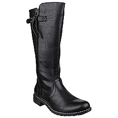Divaz - Black 'Bari' calf high boots