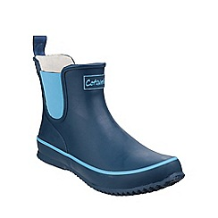 Cotswold - Navy 'Bushy' mid wellington boots