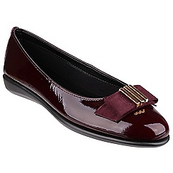 The Flexx - Merlot 'Rise a bow' ballerinas