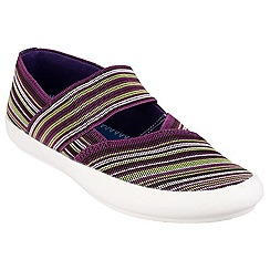 Cotswold - Multi/purple 'Oxhill' printed plimsolls