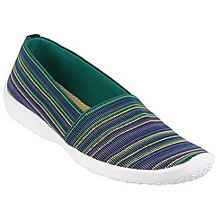Cotswold - Multi/blue 'Loxley' printed plimsolls