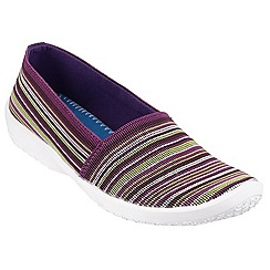 Cotswold - Multi/purple 'Loxley' printed plimsolls