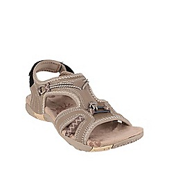 Cotswold - Taupe 'Hempton' velcro sandals