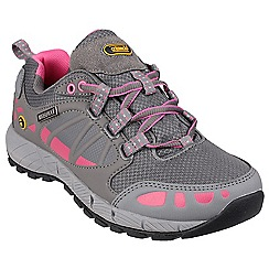 Cotswold - Grey/pink 'Pitchcombe' lace up hikers
