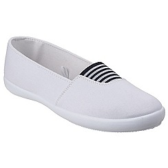 Divaz - White 'Adelle' slip on plimsolls